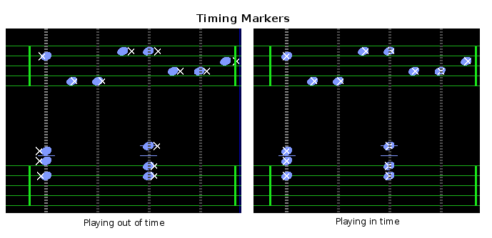 Piano Booster timing markers